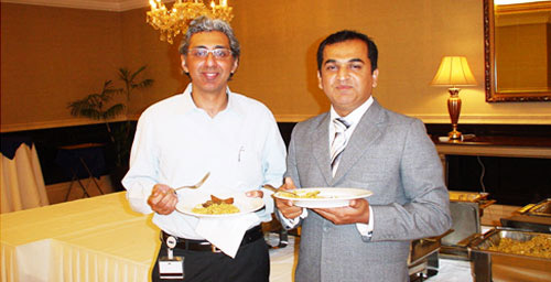 Humayun Akhlaq (Regional Sales Manager Cisco Systems) and Shahid Imran (Sr. Manager Sales Corvit Networks) enjoying lunch