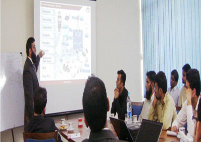 Tauseef Amjad is delivering training
