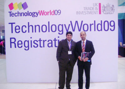 Mr. Omer Farooq (Manager Sales) and Mr. Zeeshan Rao (Manager Technical) participated at World Technology Fair held at Coventry (UK).